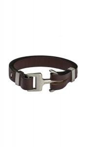 HAFEN-KLUNKER Anker Armband 107687 Edelstahl Leder schwarz silber