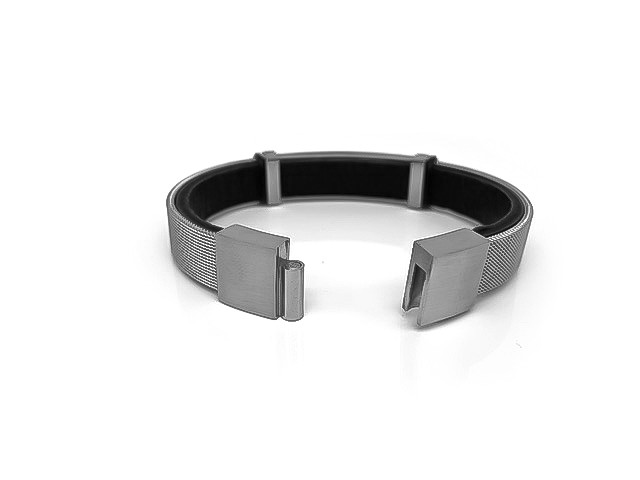 HAFEN-KLUNKER Anker Armband 110638 Edelstahl MESH Silber Leder schwarz