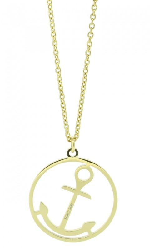 HAFEN-KLUNKER Glamour Collection Halskette Anker 108050 Edelstahl Anker rund groß gold