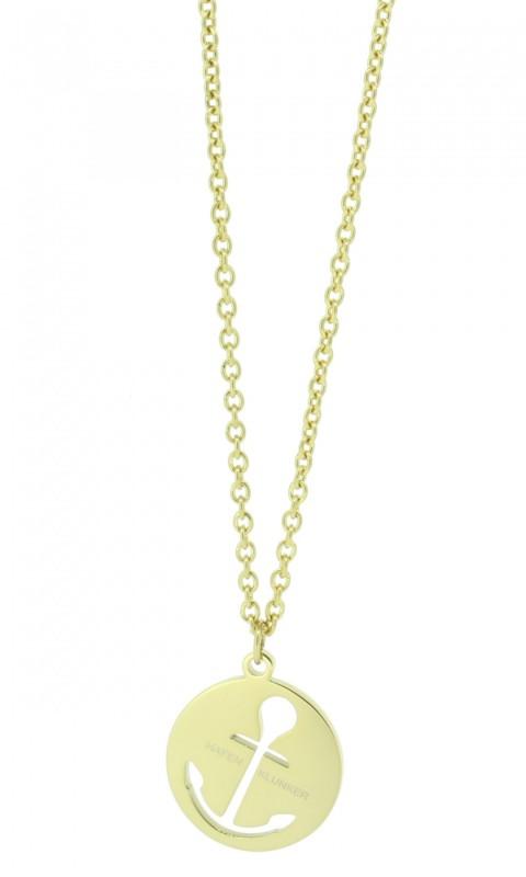 HAFEN-KLUNKER Glamour Collection Halskette Anker 108044 Edelstahl Anker ausgestanzt rund gold