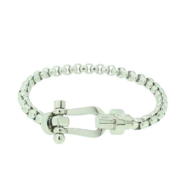 HAFEN-KLUNKER HAPPINESS Collection Armband Schäkel 110534 Edelstahl Silber