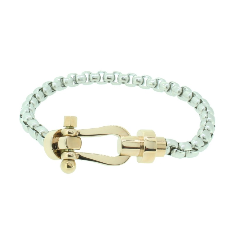 HAFEN-KLUNKER HAPPINESS Collection Armband Schäkel 110536 Edelstahl Silber Rosegold